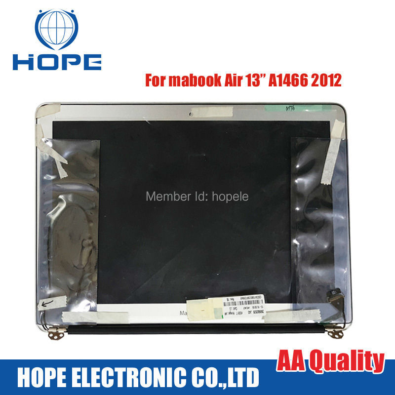 100% New A1466 LCD screen assembly for Macbook Air 13.3 inch laptop Display 2012