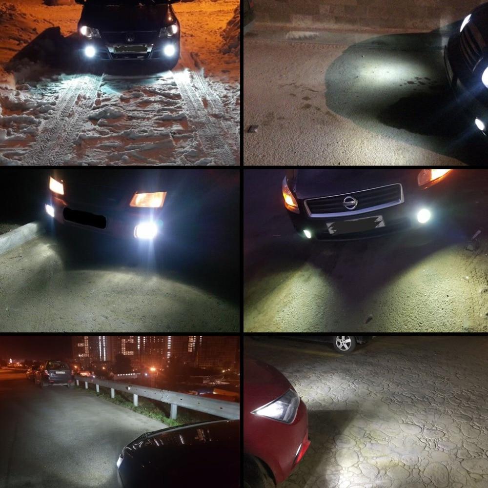 2 шт H1 H3 светодиодные лампы, автомобильные противотуманные фары, супер яркие 1400лм 6500K белые фары для вождения, автомобильные фары, 12 В, 24 В постоянного тока, автомобильные лампы