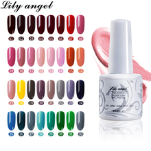 Lily angel  9ml Long Lasting Gel Varnish UV LED Nail Polish2018 New Art Supplies Perfect Fast Dry 38 Color 25-38