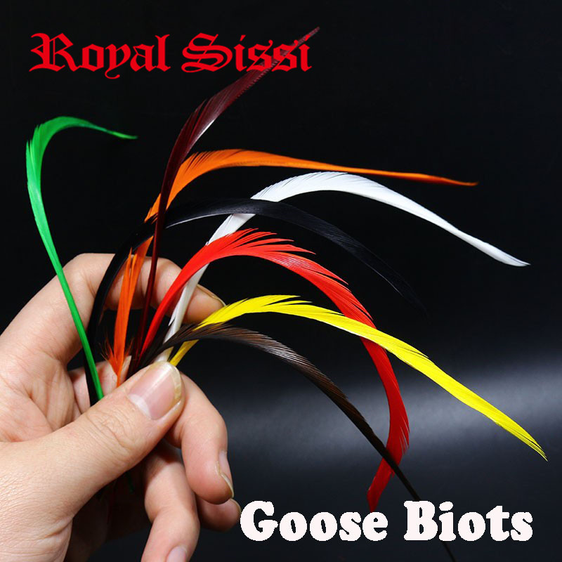Hot 80pcs/lot 8Colors mixed fly tying Goose Biot 5''-8'' Feathers Fly Tying Materials for stonefly nymph split tails& down wings 5sheets pack 10cm x 5cm holographic adhesive film fly tying laser rainbow materials sticker film flash tape for fly lure fishing