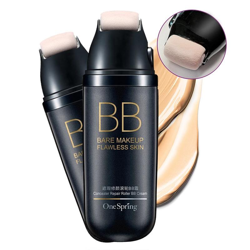 OneSpring Roller Natural Face Cream Facial Cream BB Cream Face Concealer Dark Spot Foundation Waterproof Nude Beauty Makeup Kit