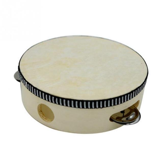 Round Percussion Sheepskin Tambourine