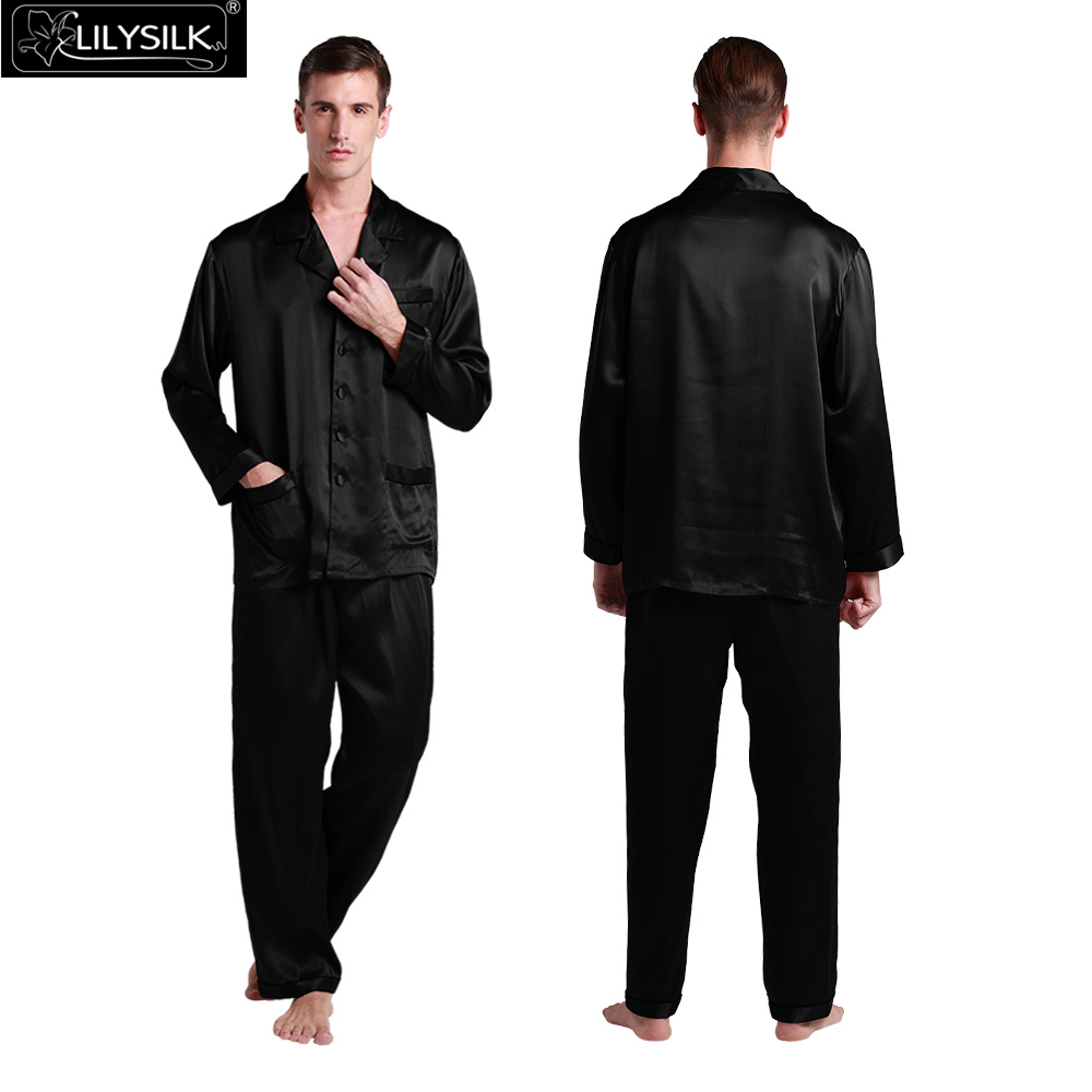 1000-black-22-momme-long-silk-pyjamas-set-with-contrast-trim