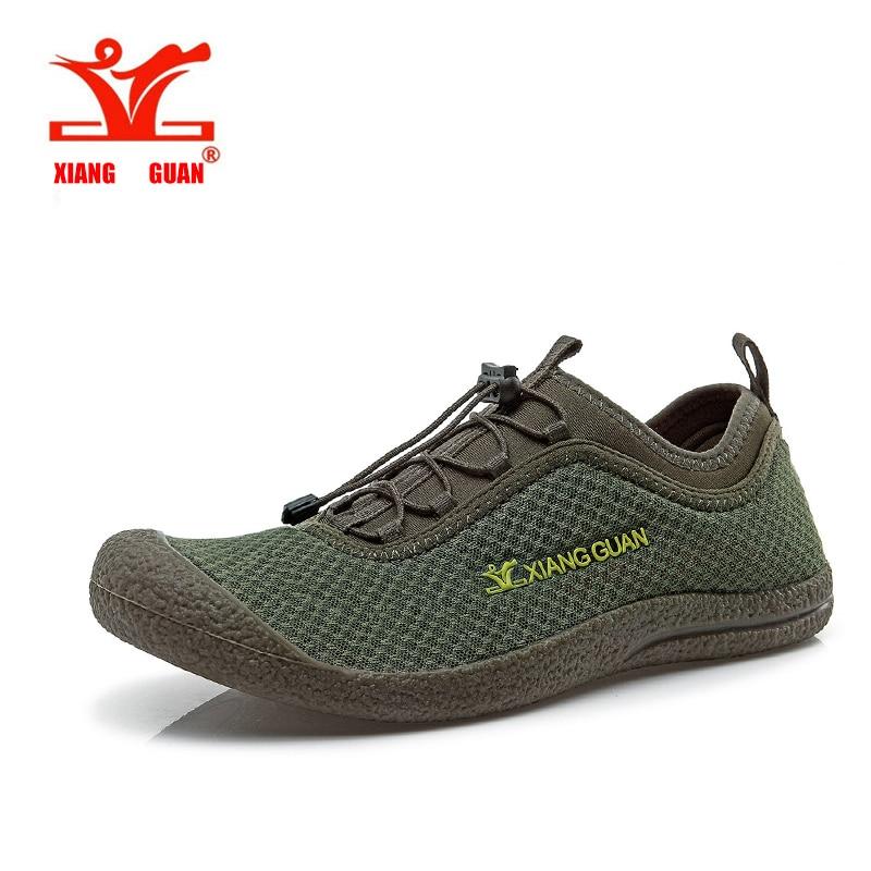 XIANGGUAN Upstream Shoes Hiking Men Beach Aqua Mesh Breathable Trainer Water Sport Boat Wading Outdoor Walking Sneaker For Man