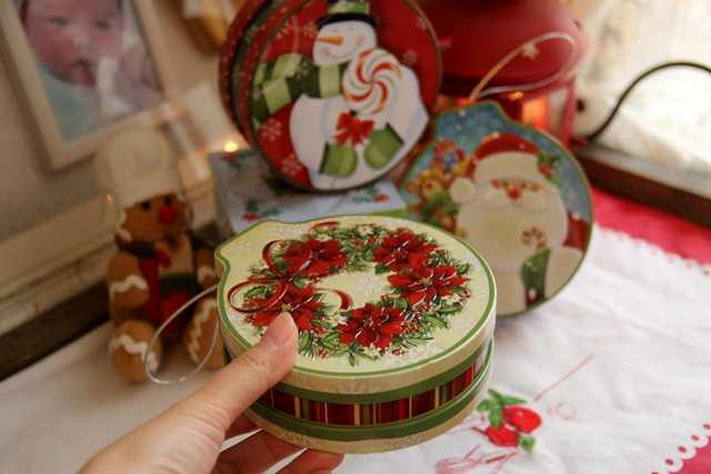 Creative Christmas Gifts.Creative Christmas Gift Tin Box With Lid Handmade Candy Tin Candy Boxes Thick Small Kids Nursery Gifts Xmas Ornaments Tin Cute