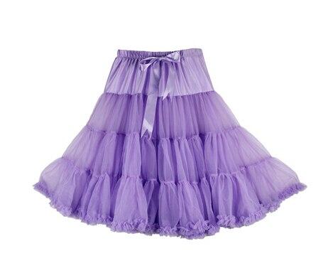 Евро ЗО, проверка, Нижняя юбка для женщин, шифоновая юбка-американка, юбка-пачка для взрослых, бальное платье, для танцев, летняя, 65 см, длинная юбка, сексуальная, однослойная - Цвет: lavender
