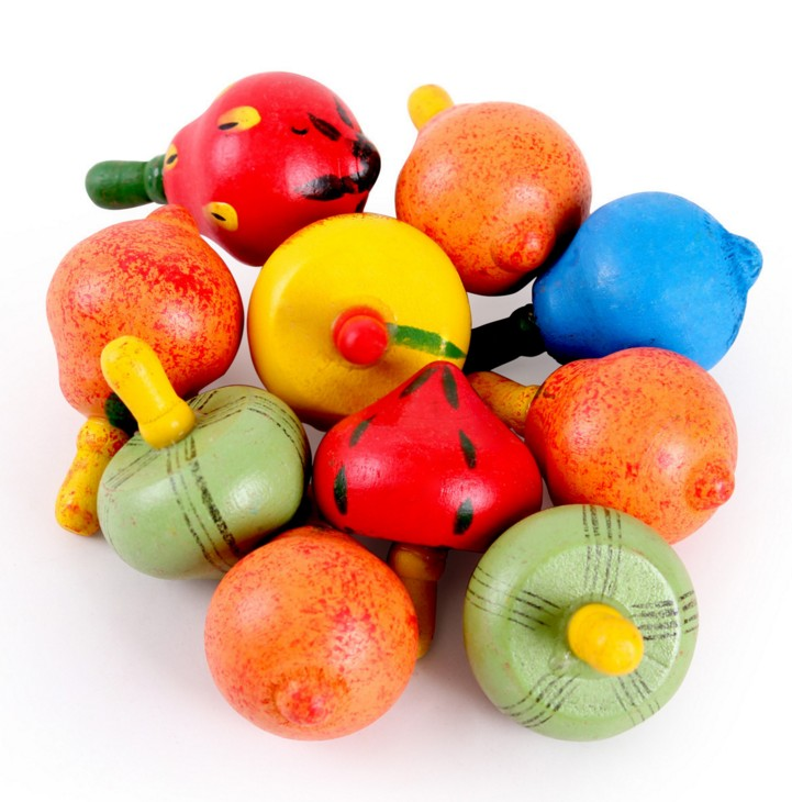 4pcs Lot Children Classic Rotating Multicolour Fruits