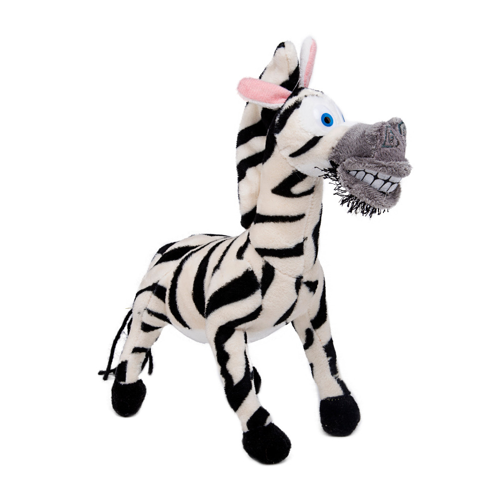 Uncategorized Madagascar Zebra madagascar alex plush toys marty melman gloria lion zebra giraffe monkey penguin hippo soft 25cm 1pcs in stuffed p