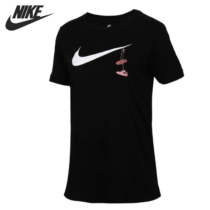 Original New Arrival 2018 NIKE SWSH SHOES EMBRD Women s T shirts short sleeve Sportswear