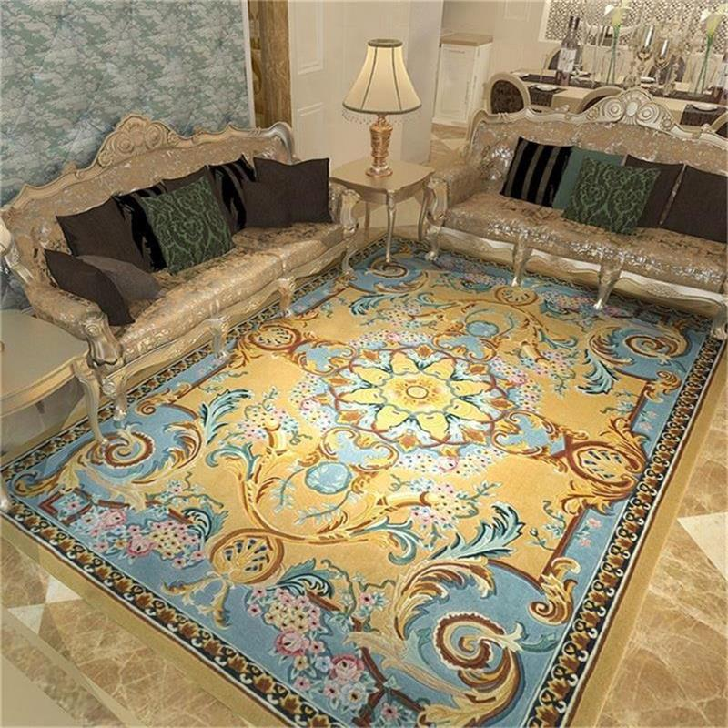 Imported Wool Carpets For Living Room Europe Modern Bedroom Carpet Thick Sofa Coffee Table Rug Nordic Study Room Floor Mat Rugs