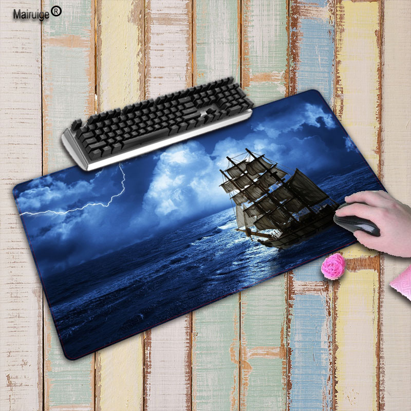 Mairuige Ship On The Sea Speed Version Large Locking Edge Gaming font b Mouse b font