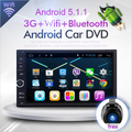 HD 1024X600 2Din Quad Core 1.6 ГГц ROM 16 Г Флэш Android 5.1.1 автомобильный DVD Навигации GPS Плеер Стерео Радио 2 Din универсальный