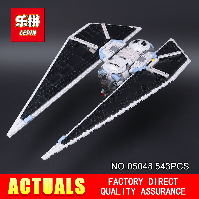 New Lepin 05048 Star Classic Model Wars 543Pcs The TIE Striker Building Blocks Bricks Toys Compatible with 75154 children Gift kazi 608pcs pirates armada flagship building blocks brinquedos caribbean warship sets the black pearl compatible with bricks