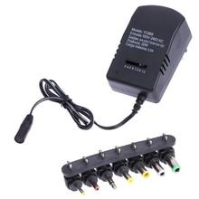 Adaptador de Energia 12 V DA UE Standar Universal AC DC Adaptador de Carregador Conversor 6 Plugs 3 4.5 6 7.5 9 30 W Energia