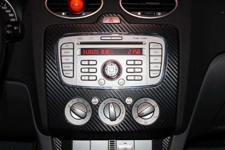 car carbon fiber console sticker case  ford focus