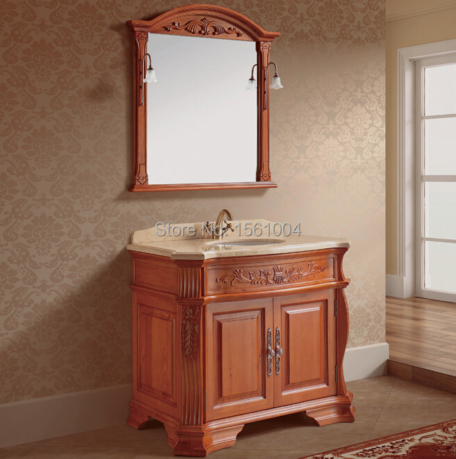 Classic solid wood bathroom cabinet bathroom furniture vanity in bathroom vanities from home Solid wood bathroom vanities cabinets