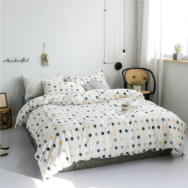 SLOWDREAM Nortic Summer Cartoon Bedding Set Double Cover Set Flat Sheet Decor Home Textiles Pillowcase Bed Linens 2019 Hot Sale in Bedding Sets from Home Garden