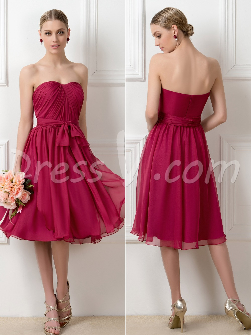 Cheap convertible straps burgundy bridesmaid dresses 2015 knee cheap convertible straps burgundy bridesmaid dresses 2015 knee length summer wedding party guest dresses maid of honor dresses in bridesmaid dresses from ombrellifo Image collections
