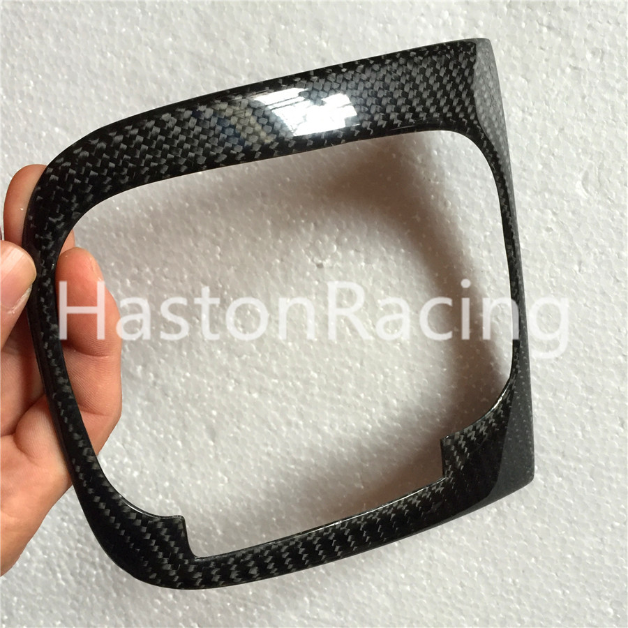 RHD Carbon Fiber Interior Shifter Cover Shift Trim For Volkswagen VW Golf 5 MK5 V GTI R32 2004~2008