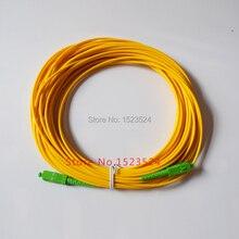 Бесплатная доставка SM SX PVC 3 мм 20 метров SC/APC Волоконно оптический соединительный кабель SC/APC SC/APC Волоконно оптический патч корд