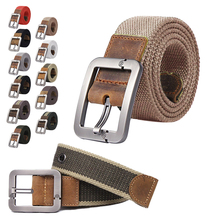 2016 HQ canvas belt male cloth stripped belt male pin buckle canvas strap jeans belt in the waist of trousers casual belt