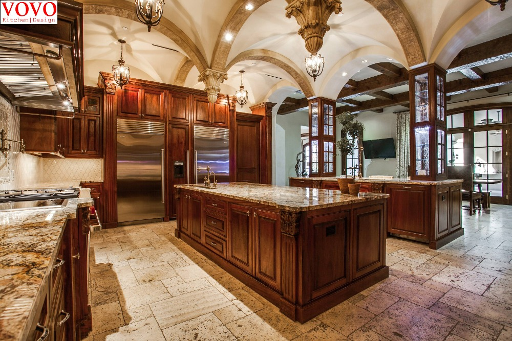 US $6500.0  Armadio da cucina in legno di Teak con grande isola in Armadio  da cucina in legno di Teak con grande isolada Mobili da cucina su ...