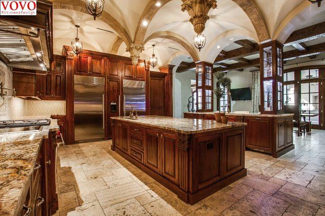 Tienda Online Madera de teca gabinete de cocina con Isla de Gran ...