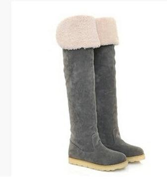 En marrón 2015 Para Dama Modelos Rodilla Negro Tubo Zapatos amarillo Fondo Invierno Nieve Largos Mujer Nuevos De Botas gris Botines Moda qzUq16