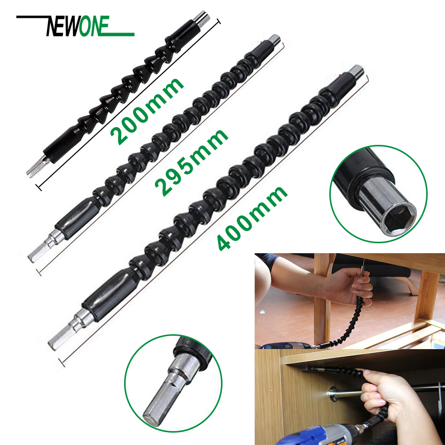 NEWONE Flexible Shaft Extension Screwdriver Drill Bit Holder Link For Electronic Drill 200/295/400mm