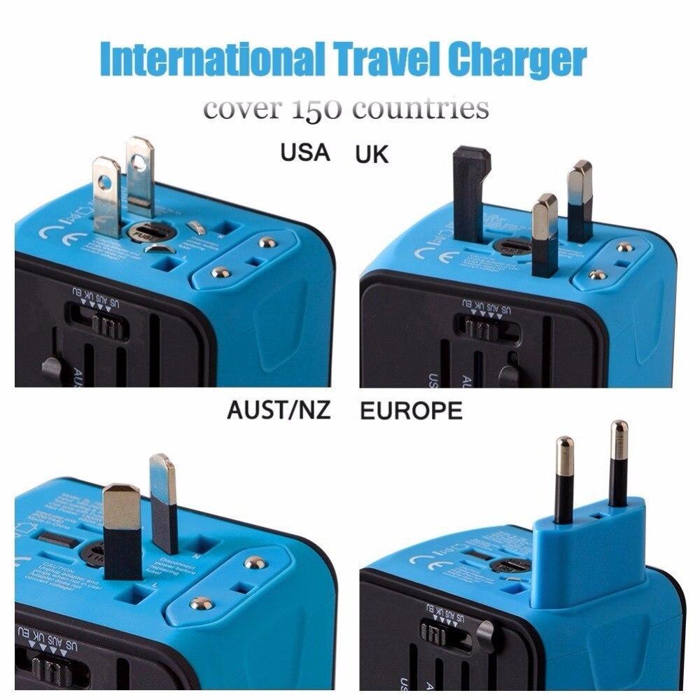 LERBYEE Universal Travel Adapter Electric Plugs Sockets Converter US ...