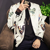 2017 Spring Men S New Jacket Youth Fashion Chicken Print Baseball Jacket Male Size 1