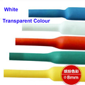 10 м/рулон 1КВ 8 мм диаметр белая термоусадочная трубка изолирующая втулка