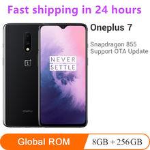 Oneplus smartphone 7 8gb + 256gb global, celular com snapdragon 855, núcleo octa core, tela amoled de 6.41