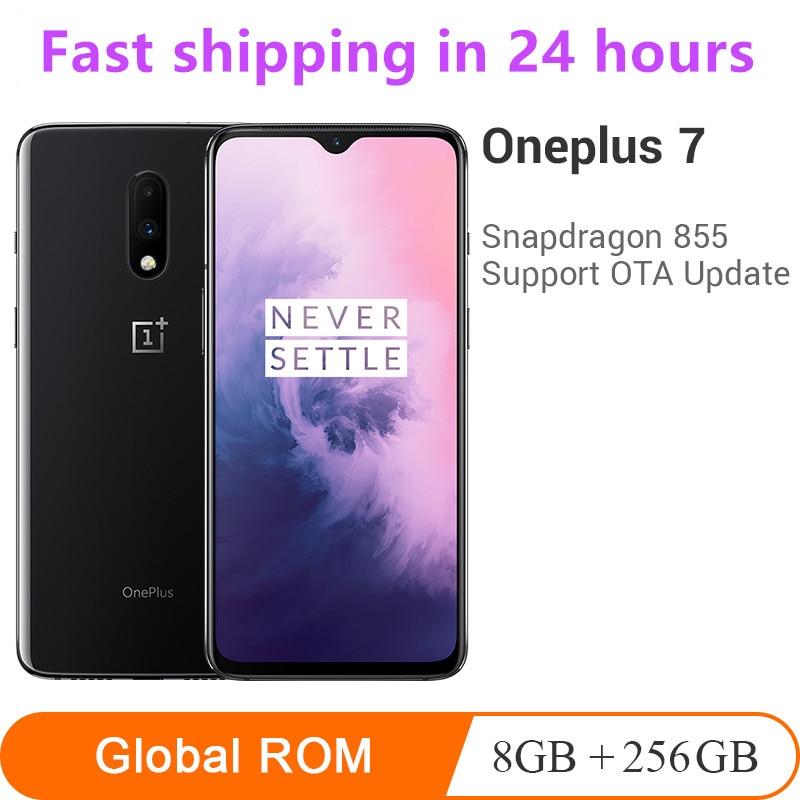 "Rom global oneplus 7 8 gb 256 gb smartphone snapdragon 855 octa núcleo 6.41 ""amoled 48mp + 16mp câmeras duplas nfc 3700 mah telefone móvel"