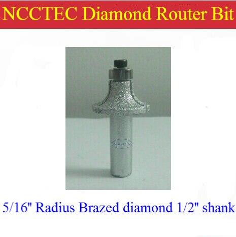 5/16'' R8 Radius Diamond Vacuum Brazing Brazed Router Bit With 1/2