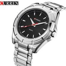 CURREN Sport Watches Silver Black Clock Mens Quartz Wrist Top Brand Luxury Japan Movement Stainless Steel