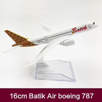Batik Air Airlines Airplane Model Boeing 787 Metal Diecast Scale 1:400
