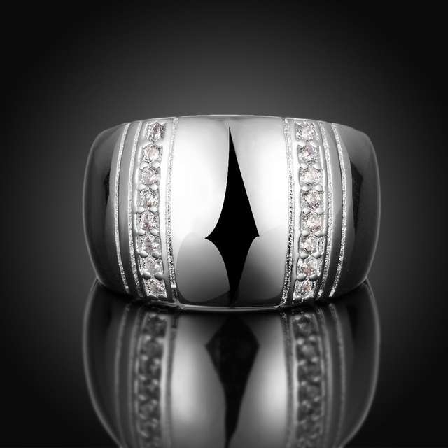 Jemmin 925 Sterling Silver Woman/ Man Lover's Ring CZ Crystal Wedding Engagement Wholesale Fashion Finger Rings Jewelry