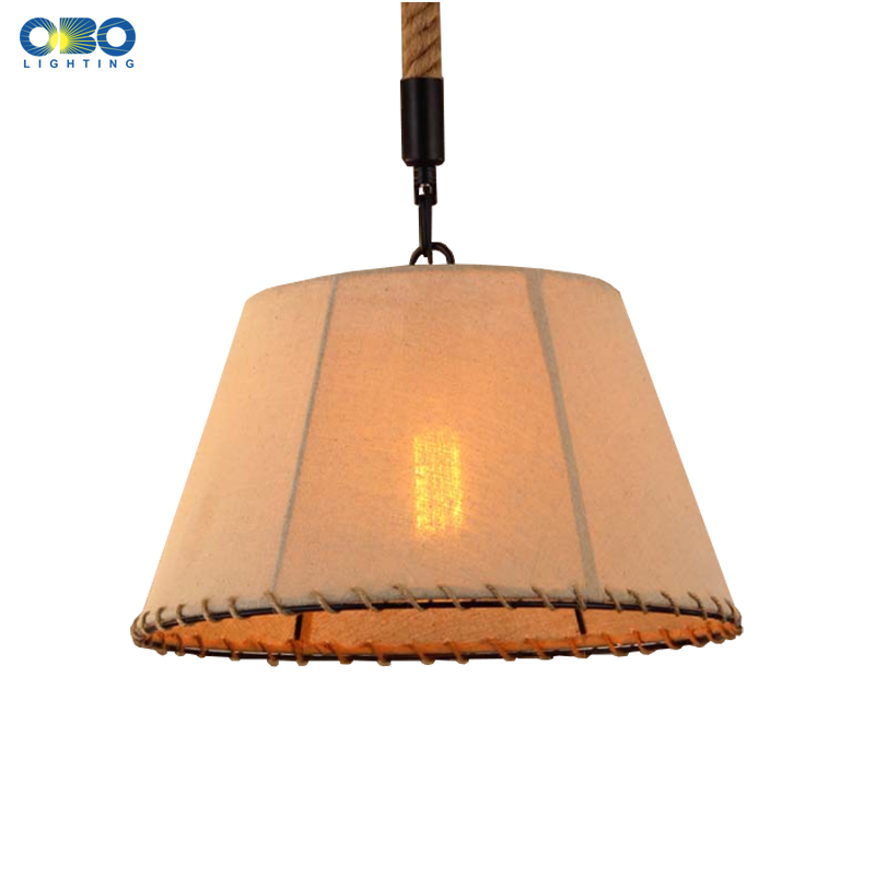 Vintage Hemp Rope Linen Weave Lampshade Iron Pendant Lamp Shop/Coffee House Indoor Lighting Pendant Lights Bar E27 110-240V vintage wicker linen iron pendant lamp parlor coffee house bookshop bar dining room indoor lighting e27 lamp holder 110 240v