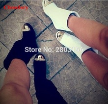 Fashion women metal round toe knee high boots Ladies height increasing boots Spring Autumn Wedge Boots Shoes Woman