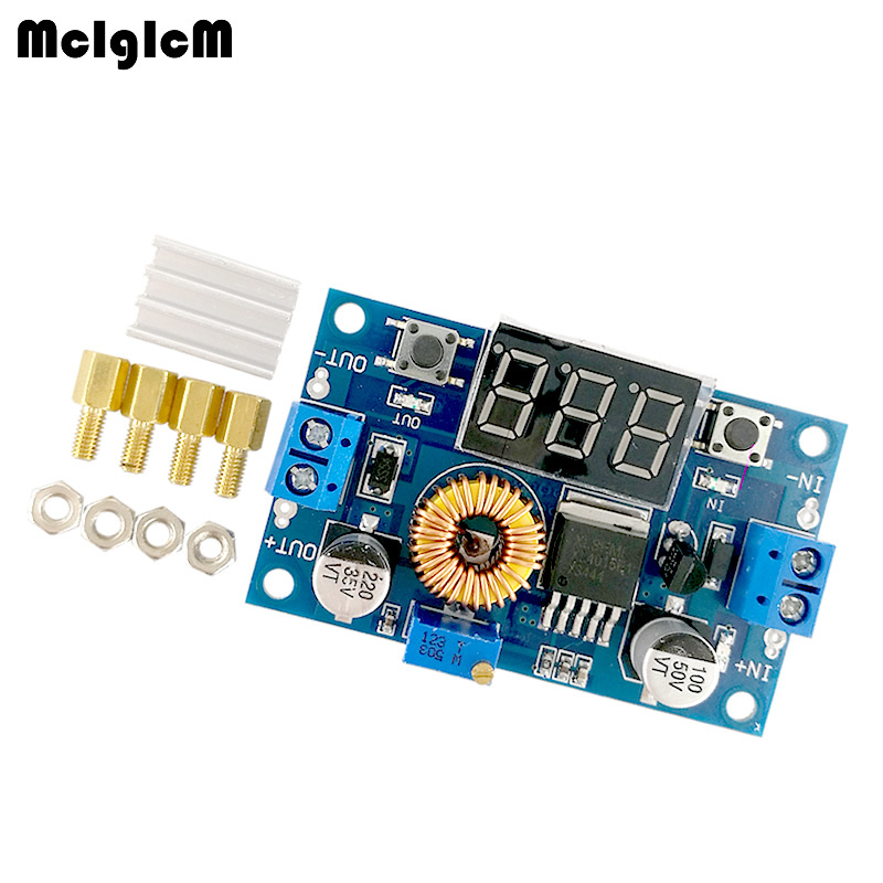 MCIGICM 5A 75W DC DC Adjustable Step down Module Step Down Modules with Voltmeter