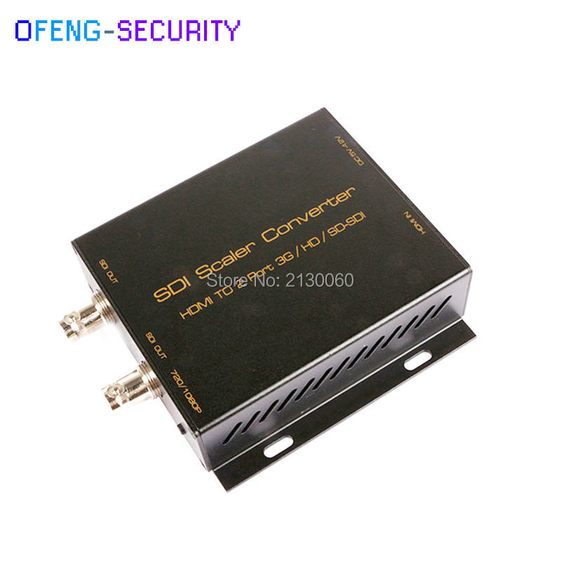 HDMI To SDI Converter With 2ch SDI Output, Video Converter, Support 1080P@50/60Hz. Wide Voltage Support 5-12V