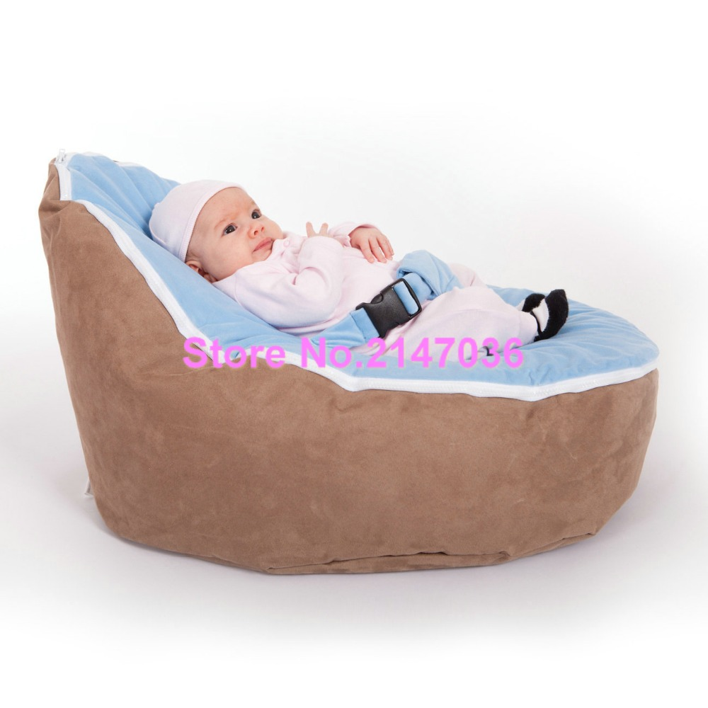 Peachy Us 28 0 Brown With Blue Harness Cover Seat Zipper Baby Bean Bag Soft Sleeping Bag Portable Seat Without Filling In Living Room Sofas From Furniture Dailytribune Chair Design For Home Dailytribuneorg