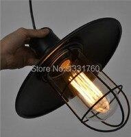 Лампа Эдисона Обеденная Lving бар люстра кулон RH Лофт Винтаж клетка нити подвесной светильник промышленное освещение