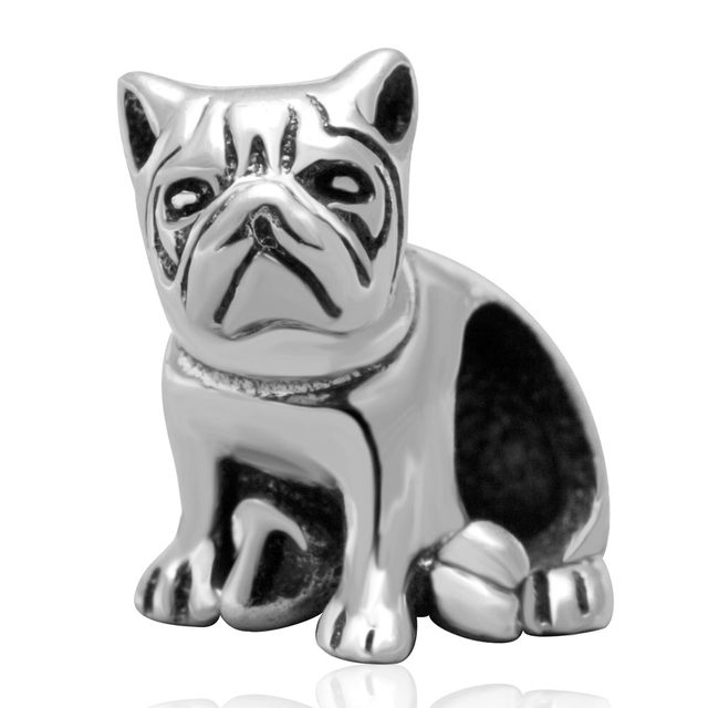 Belldog Charm Animal Bead Original 100% Authentic 925 Sterling Silver Beads fit for Pandora Charms bracelets