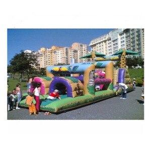 Inflatable amusement park play
