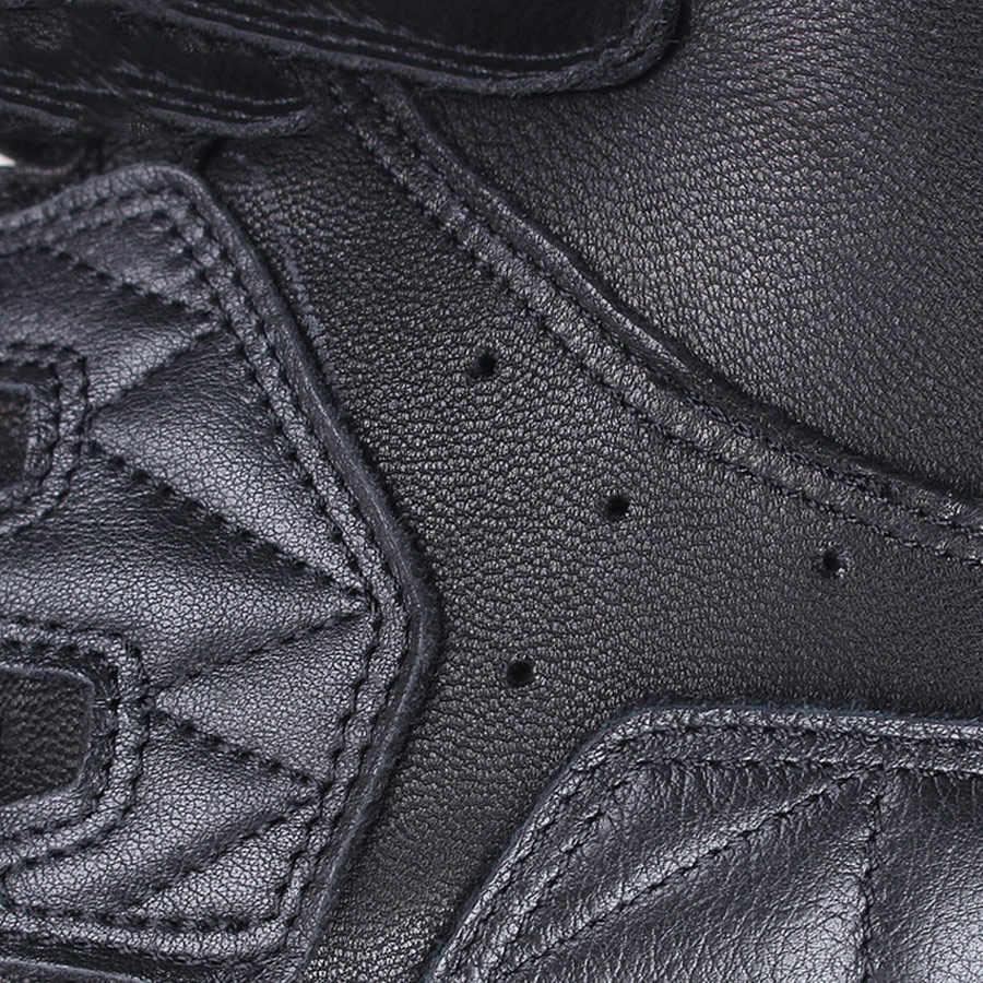 SCOYCO gants de moto en cuir véritable Perfoated respirant lumière antichoc écran tactile résistant à l'usure rétro extérieur gants MC46