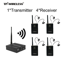 Free shipping TP-WIRELESS 2.4GHz Professional In-ear Digital Wireless Stage audio Monitor System 1Transmitter 4Receivers em2050 wireless in ear monitor system 10 ear monitoring systems wireless stage monitor system em2050 iem bodypack monitor