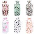 0-12M Newborn Baby Blanket Swaddle Sleeping Bag Cute Print Sleepsacks Stroller Wrap Outwear Unisex Six Style