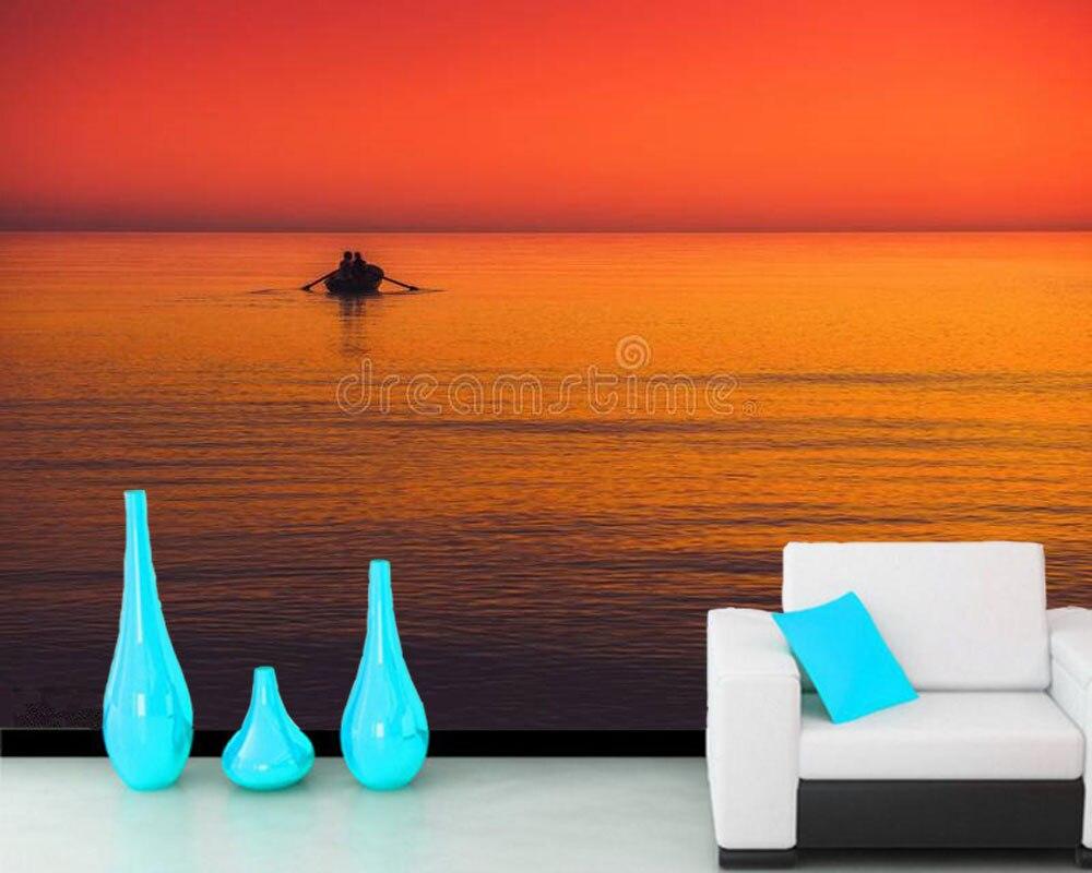 Paysage marin été couleurs 3d photo papier peint mural papel de parede, salon canapé TV mur chambre papiers muraux décor maison bar café
